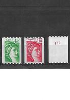 1721 LOT DE 3 SABINE DE GANDON  YT 1981A - 1981B - 2157a ( Numéro Rouge Au Verso ) Tous Neuf ** - 1977-81 Sabine De Gandon