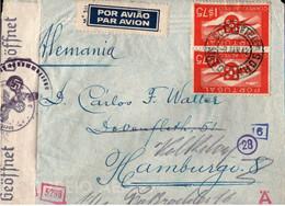 ! 1942 Airmail Cover, Luftpostbrief Matozinhos, Portugal Nach Hamburg Volksdorf, OKW Zensur, Censure, Censor - Covers & Documents