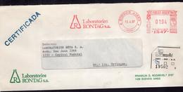 Argentina - 1987 - Lettre - Cachet Spécial - Affranchissement Mécanique - Laboratorios Rontag SA - A1RR2 - Lettres & Documents