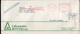 Argentina - 1990 - Lettre Andreani - Circulé - Envoyé En Buenos Aires - Laboratorios RONTAG SA - A1RR2 - Lettres & Documents