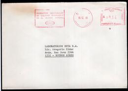 Argentina - 1986 - Lettre - Cachet Spécial - Affranchissement Mécanique - Equitel - Siemens - A1RR2 - Lettres & Documents