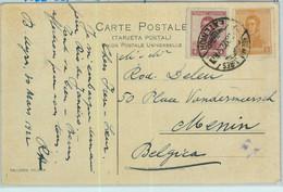 93848 - ARGENTINA - POSTAL HISTORY -  5 Cent Franking POSTCARD To BELGIUM  1922 - Briefe U. Dokumente