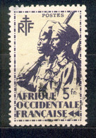 A.O.F. Afrique Occidentale Francaise - Französisch Westafrika 1945 - Michel Nr. 19 O - Oblitérés