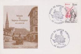 Carte   FRANCE   Musée  Du   SAPEUR - POMPIER    MULHOUSE   1982 - Sapeurs-Pompiers