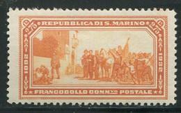 SAN MARINO 1932 GARIBALDI 2,75 LIRE * GOMMA ORIGINALE - Unused Stamps