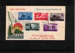 Egypt UAR 1961 7th Anniversary Of The Liberation FDC - Cartas