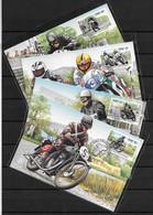 Joint 1996 Ireland And Isle Of Man, SET OF 4 FDC / MAXIMUM CARDS IRELAND: Tourist Trophy - Emisiones Comunes