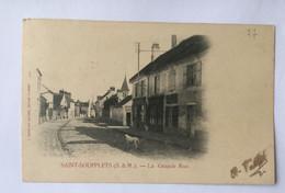 CPA SAINT SOUPPLETS La Grande Rue L. Didier Des Gachons 77 - Autres Communes