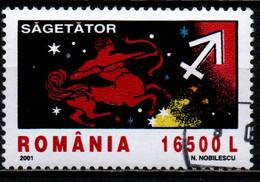 ROMANIA - 2001 - SEGNI ZODIACALI: SAGITTARIO - USATO - Usado