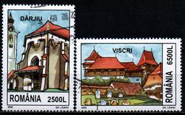 ROMANIA - 2002 - FORTEZZE TEDESCHE IN ROMANIA: DARJIU, VISCRI - USATI - Usado
