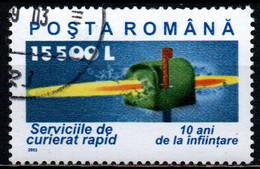 ROMANIA - 2002 - SERVIZIO POSTALE RAPIDO - USATO - Usado