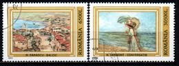 ROMANIA - 2003 - Paintings: Balcic, By N. Darascu, Conversatie, By N. Vermont - USATI - Usado