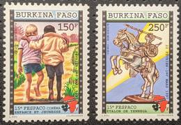 Burkina Faso, 1997, Mi 1447-1448, The 15th FESPACO Film Festival, 2v, MNH - Cinema