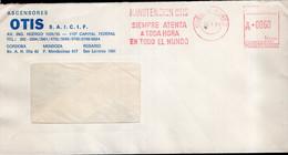 Argentina - 1988 - Lettre - Cachet Spécial - Affranchissement Mécanique - Ascensores OTIS - A1RR2 - Lettres & Documents