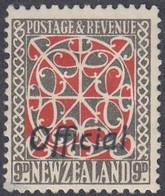 New Zealand, Scott #O90, Mint Hinged, Maori Panel Overprinted, Issued 1944 - Servizio