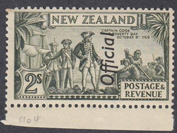 New Zealand, Scott #O71, Mint Never Hinged, Capt Cook Overprinted, Issued 1936 - Servizio