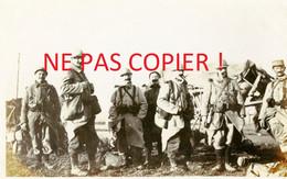 PHOTO FRANCAISE - POILUS DU 322e RIT PARTANT POUR CHUIGNOLLES SOMME 1916 - GUERRE 1914 1918 - 1914-18