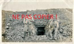 PHOTO FRANCAISE - POILUS ET ENTREE DE CAGNA A BRAY SUR SOMME PRES DE SUZANNE 1916 - GUERRE 1914 1918 - 1914-18
