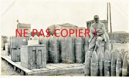 PHOTO FRANCAISE - MAGASIN D'OBUS ARTILLERIE LOURDE AU CAMP LES BUTTES PRES DE BRAY SUR SOMME 1916 - GUERRE 1914 1918 - 1914-18