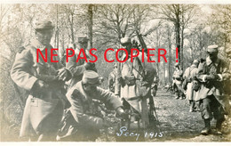 PHOTO FRANCAISE 322 RIT POILUS EN CANTONNEMENT EN FORET DE PECY PRES ROZAY EN BRIE SEINE ET MARNE 1915 GUERRE 1914 1918 - 1914-18