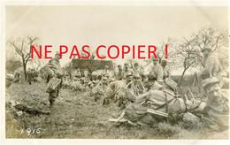PHOTO FRANCAISE - POILUS DU 322e RIT A BERNAY PRES DE ROZAY EN BRIE - PROVINS SEINE ET MARNE 1915 - GUERRE 1914 1918 - 1914-18