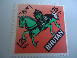 BHUTAN  MINT    STAMPS  HORSES - Bhután