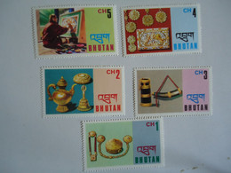 BHUTAN  MINT    STAMPS  OLYMPIC  ART   MUSEUM - Bhután