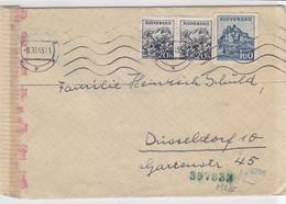 Zensurbrief Aus PRESSBURG 9.11.43 Nach Düsseldorf - Cartas