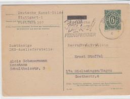 P 901 Aus STUTTGART 14.12.45 Nach Rielasingen - Zone Anglo-Américaine