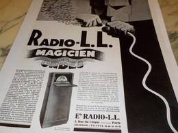 ANCIENNE PUBLICITE MAGICIEN DES ONDES  RADIO LL 1928 - Altri