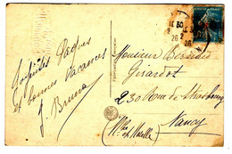 43701 - Semeuse Avec Surcharge - Briefe U. Dokumente