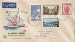 Australia FDC 1956 Melbourne Olympic Games (G125-26) - Sommer 1956: Melbourne