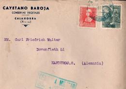 ! 1939 Brief Calahorra, Spanien, Spain, Nach Hamburg,  Zensur, Censure, Censor, Censura - 1931-50 Cartas