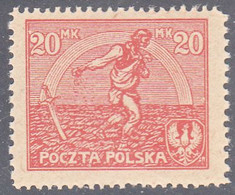 POLAND  SCOTT NO 155A    MINT HINGED   YEAR 1921 - Unused Stamps