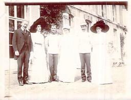 Photo Lieury L'Oudon Mariage Famille Bourgeoise Militaire Robes Chapeau Smoking 1912 14170 14472 Saint Pierre En Auge - Lieux
