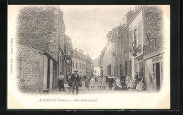 CPA Auzances, Rue Saint-Jacques, Belebte Strasse - Auzances