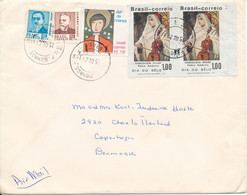 Brazil Cover Sent Air Mail To Denmark 15-12-1971 - Cartas