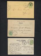 3 Postkaarten Met Depots Relais Stempels Van NYLEN En EPRAVE + BRUG - Stempel NAMUR STATION DEPART  ! LOT 381 - 1893-1907 Armoiries
