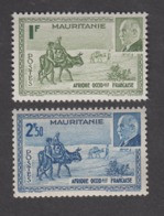 Colonies Françaises -Timbres Neufs** - Mauritanie - Pétain - N° 123 Et 124 - Neufs