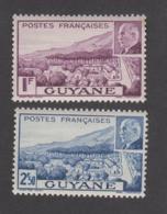 Colonies Françaises -Timbres Neufs** - Guyane - Pétain - N° 172 Et 173 - Unused Stamps