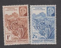 Colonies Françaises -Timbres Neufs** - Madagascar - Pétain - N° 229 Et 230 - Unused Stamps
