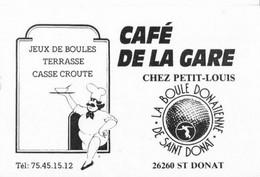 26 SAINT DONAT  /  CAFE DE LA GARE - Cartes De Visite