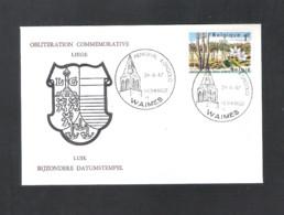 WAIMES  - OBLITERATION COMMEMORATIVE - LIEGE - MEMORIAL KONGOLO HOMMAGES  DE WAIMES - DD. 24 - 6- 1967 - OMSLAG (D 099) - Cartes Souvenir