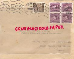 TCHECOSLOVAQUIE- ENVELOPPE PAR AVION-  IG. J. ECKSTEIN - PRAHA VIII- PIERRE POINTU -PERUCAUD SAINT JUNIEN- 1938 - Briefe U. Dokumente