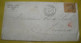 1872  GO FROM  PARIS TO LIVORNO / BELLA  BUSTINA   VIAGGIATA  DA  PARIGI  PER LIVORNO - 1870 Siège De Paris