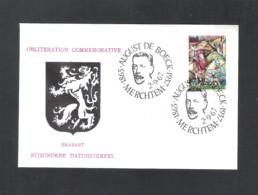 MERCHTEM - BIJZONDERE DATUMSTEMPEL BRABANT  -  AUGUST DE BOECK 1865-1937   -  DD. 2 - 9 - 1967 - OMSLAG (D 076) - Herdenkingskaarten