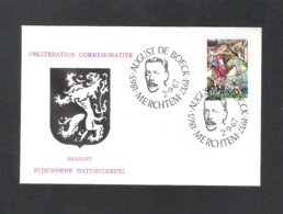 MERCHTEM - BIJZONDERE DATUMSTEMPEL BRABANT  -  AUGUST DE BOECK 1865-1937   -  DD. 2 - 9 - 1967 - OMSLAG (D 076) - Cartas Commemorativas