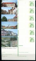 REPUBLIQUE FEDERALE ALLEMANDE - Ganzsache Michel P 134 - Série J2 Complète (sauf J2-32) - Postales Ilustrados - Nuevos