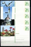 REPUBLIQUE FEDERALE ALLEMANDE - Ganzsache Michel P 134 - Série J4 Complète - Postales Ilustrados - Nuevos