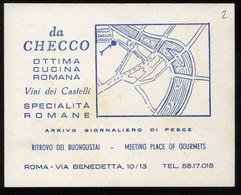 Checco Er Carettiere Biglietto Da Visita Ottima Cucina Romana 9x11cm - Cartes De Visite